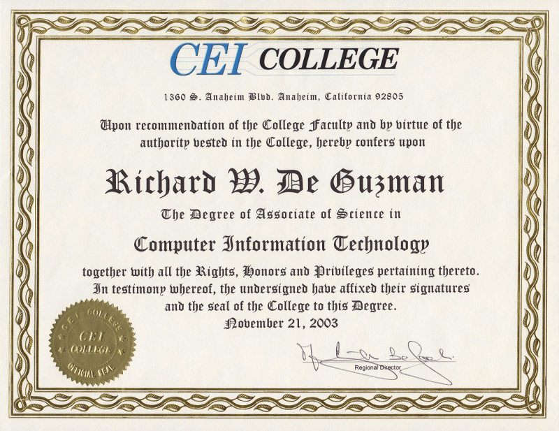 CEI College Associate of Science Degree in Computer Information Technology